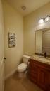 Guest bathroom has a walk-in shower.